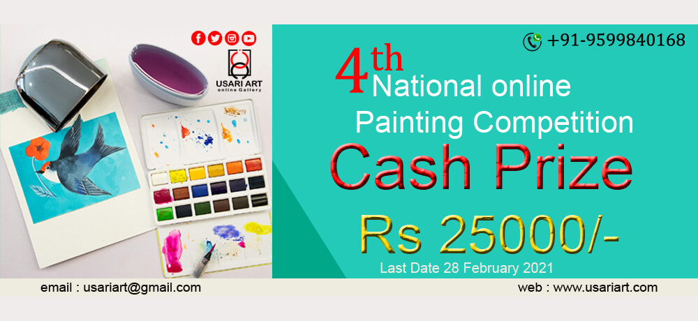 4th National Online Painting Competition Usari Art Creative