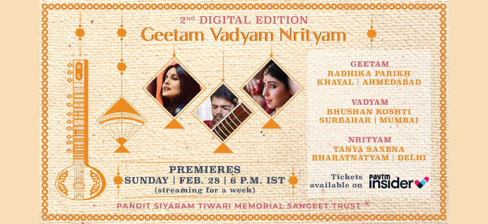 Pandit Siyaram Tiwari Memorial Sangeet Trust Geetam Vadyam Nrityam Musical Confluence Creative