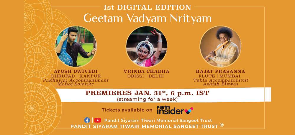 Geetam Vadyam Nrityam Musical Confluence Online Creative