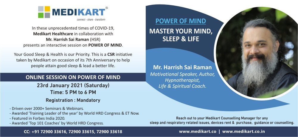 Power Mind Master Mind Sleep Life Spiritual Coach Harrish Sai Raman HSR Online Creative