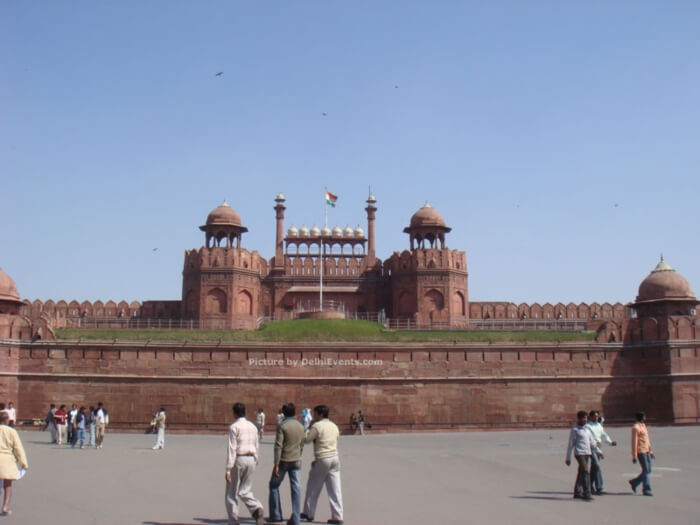 lal quila outside view red fort delhi
